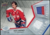 2008/09 Upper Deck Ice Frozen Fabrics Black Parallel #FFLW Rod Langway /25