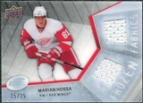 2008/09 Upper Deck Ice Frozen Fabrics Black Parallel #FFMH Marian Hossa /25