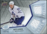 2008/09 Upper Deck Ice Frozen Fabrics Black Parallel #FFMS Mats Sundin /25