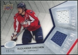 2008/09 Upper Deck Ice Frozen Fabrics Black Parallel #FFOV Alexander Ovechkin /25