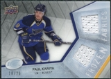 2008/09 Upper Deck Ice Frozen Fabrics Black Parallel #FFPK Paul Kariya /25