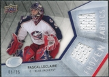 2008/09 Upper Deck Ice Frozen Fabrics Black Parallel #FFPL Pascal Leclaire /25