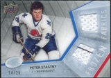 2008/09 Upper Deck Ice Frozen Fabrics Black Parallel #FFPS Peter Stastny /25