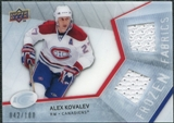 2008/09 Upper Deck Ice Frozen Fabrics Parallel #FFAK Alex Kovalev /100