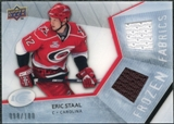 2008/09 Upper Deck Ice Frozen Fabrics Parallel #FFES Eric Staal /100