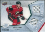 2008/09 Upper Deck Ice Frozen Fabrics Parallel #FFMK Mikko Koivu /100