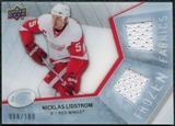 2008/09 Upper Deck Ice Frozen Fabrics Parallel #FFNL Nicklas Lidstrom /100