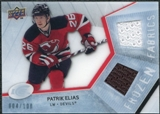 2008/09 Upper Deck Ice Frozen Fabrics Parallel #FFPE Patrik Elias /100