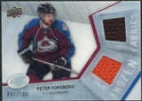 2008/09 Upper Deck Ice Frozen Fabrics Parallel #FFPF Peter Forsberg /100