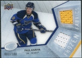 2008/09 Upper Deck Ice Frozen Fabrics Parallel #FFPK Paul Kariya /100