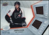 2008/09 Upper Deck Ice Frozen Fabrics Parallel #FFSG Simon Gagne /100