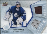 2008/09 Upper Deck Ice Frozen Fabrics Parallel #FFVT Vesa Toskala /100