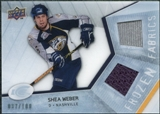 2008/09 Upper Deck Ice Frozen Fabrics Parallel #FFWB Shea Weber /100