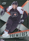 2008/09 Upper Deck Ice #161 Claude Giroux RC /499