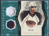 2011/12 Upper Deck Artifacts Hockey Evander Kane Jersey Patch #16/35