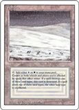 Magic the Gathering 3rd Ed (Revised) Single Tundra - HEAVY PLAY (HP)