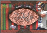 2007 Upper Deck Sweet Spot Pigskin Signatures Bronze #BE2 Drew Bennett /49