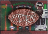 2007 Upper Deck Sweet Spot Pigskin Signatures Green #BR Reggie Brown /50