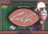 2007 Upper Deck Sweet Spot Pigskin Signatures Green #CD Craig Buster Davis /50