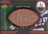 2007 Upper Deck Sweet Spot Pigskin Signatures Green #CH Chris Henry Autograph /50