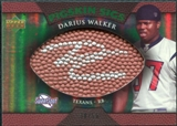 2007 Upper Deck Sweet Spot Pigskin Signatures Green #DW Darius Walker /50