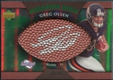 2007 Upper Deck Sweet Spot Pigskin Signatures Green #GO Greg Olsen /50