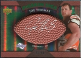 2007 Upper Deck Sweet Spot Pigskin Signatures Green #JT Joe Thomas /50