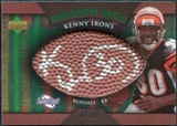2007 Upper Deck Sweet Spot Pigskin Signatures Green #KI Kenny Irons /50