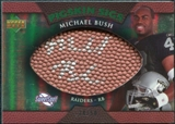 2007 Upper Deck Sweet Spot Pigskin Signatures Green #MB Michael Bush /50