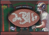 2007 Upper Deck Sweet Spot Pigskin Signatures Green #BE Drew Bennett Autograph /75