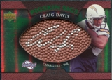 2007 Upper Deck Sweet Spot Pigskin Signatures Green #CD Craig Buster Davis /75