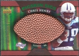 2007 Upper Deck Sweet Spot Pigskin Signatures Green #CH Chris Henry Autograph /75