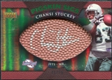 2007 Upper Deck Sweet Spot Pigskin Signatures Green #CS Chansi Stuckey Autograph /75