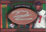 2007 Upper Deck Sweet Spot Pigskin Signatures Green #DW Darius Walker /75