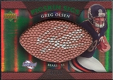 2007 Upper Deck Sweet Spot Pigskin Signatures Green #GO Greg Olsen /75