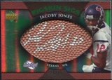 2007 Upper Deck Sweet Spot Pigskin Signatures Green #JJ Jacoby Jones /75