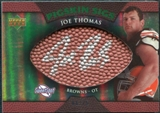2007 Upper Deck Sweet Spot Pigskin Signatures Green #JT Joe Thomas /75