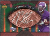 2007 Upper Deck Sweet Spot Pigskin Signatures Green #AA Aundrae Allison /99