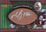 2007 Upper Deck Sweet Spot Pigskin Signatures Green #BA Marion Barber /99