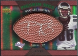2007 Upper Deck Sweet Spot Pigskin Signatures Green #BR Reggie Brown Autograph /99