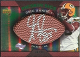 2007 Upper Deck Sweet Spot Pigskin Signatures Green #GJ Greg Jennings Autograph /99