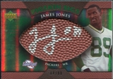 2007 Upper Deck Sweet Spot Pigskin Signatures Green #JO James Jones Autograph /99