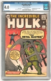 Incredible Hulk #6 CGC 4.0 (OW-W) *1174192017*