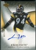 2007 Upper Deck Exquisite Collection #91 Lawrence Timmons RC Autograph /150
