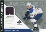 2007/08 Upper Deck SP Game Used Authentic Fabrics #AFDW Doug Weight