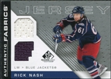2007/08 Upper Deck SP Game Used Authentic Fabrics #AFRN Rick Nash