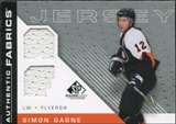 2007/08 Upper Deck SP Game Used Authentic Fabrics #AFSG Simon Gagne