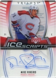2006/07 Upper Deck Trilogy Ice Scripts #ISMR Mike Ribeiro Autograph