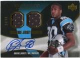 2007 Upper Deck Exquisite Collection Signature Jersey Numbers #DW Dwayne Jarrett Autograph /80