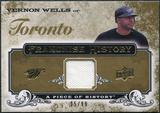 2008 Upper Deck UD A Piece of History Franchise History Jersey Gold #FH50 Vernon Wells /99